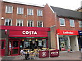 SO9570 : Bromsgrove High Street  Costa & Ladbrokes by Roy Hughes