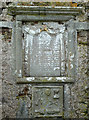 NG0483 : Memorial plaque in mausoleum, St Clement's, Rodel by Rob Farrow