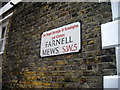 TQ2578 : Street sign: Farnell Mews by PAUL FARMER