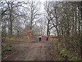 SE8836 : Timber  awaiting  Collection  in  Houghton  Woods by Martin Dawes