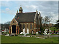 TQ4977 : Chapel, Erith cemetery by Robin Webster