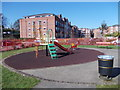 SE2737 : Play Area - Farnham Close by Betty Longbottom