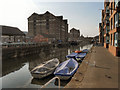 SO8218 : Gloucester Docks, Barge Arm by David Dixon