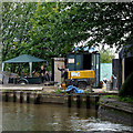 SJ7066 : Dry dock entrance in  Middlewich, Cheshire by Roger  Kidd