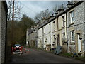 SK1573 : Row of houses near Litton Mill, Miller's Dale by Andrew Hill