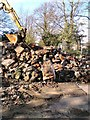 SJ9594 : Pile of rubble by Gerald England