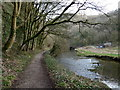 SK1373 : River Wye, downstream towards Miller's Dale by Andrew Hill