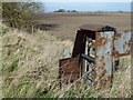 TF2911 : Rusting railway relic east of Crowland by Richard Humphrey