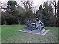 TQ4551 : Sir Winston and Lady Churchill statue by Oscar Nemon by PAUL FARMER