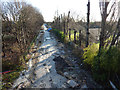 SJ8293 : Metrolink construction site from Mauldeth Road West, Chorlton-cum-Hardy by Phil Champion