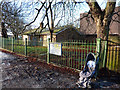 SJ8292 : Disused caretaker's bungalow and an abandoned pushchair by Phil Champion