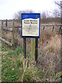 TM4790 : Castle Marshes Nature Reserve sign by Adrian Cable