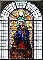 TQ3579 : St Mary with All Saints, Rotherhithe - Stained glass window by John Salmon