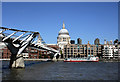 TQ3280 : St Paul's Cathedral and the Millennium Footbridge by Des Blenkinsopp