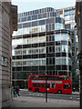 TQ3181 : 120 Fleet Street and Bus by Des Blenkinsopp