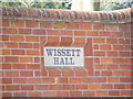 TM3878 : Wissett Hall sign by Adrian Cable