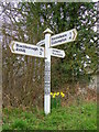 ST0808 : Fingerpost, Stoford Water by Miss Steel