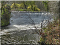 SJ8382 : River Bollin Weir by David Dixon