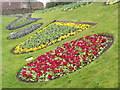 SU9949 : Guildford Castle Flowerbeds by Colin Smith