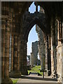 NZ9011 : Whitby Abbey: Aisle (Looking West) : Week 12