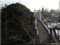 TQ1671 : Suspension footbridge at Teddington Weir by Stephen Craven
