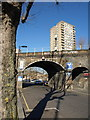 TQ2381 : Railway bridge, Silchester Road, W10 by Derek Harper