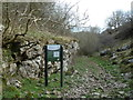 SK1275 : Path entering the Monk's Dale nature reserve by Andrew Hill