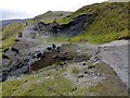 SK1383 : A6187 - or it used to be! Below Mam Tor by Chris Morgan