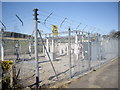 NJ6806 : Midmar Electricity Sub-station; securely fenced. by Stanley Howe
