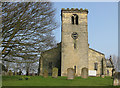 TA0967 : 12th C west tower, All Saints Church, Rudston by Pauline Eccles