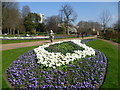 TQ2879 : Floral display in The Rose Garden, Hyde Park by Ian Yarham