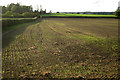 SP4476 : Fields west of Church Lawford by Robin Stott