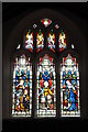 SO8360 : Stained-glass window, Grimley church by Philip Halling