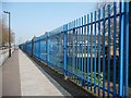 TQ3291 : Primary school security fence by Christine Johnstone