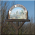 TQ8597 : North Fambridge Village Sign (Detail) by Roger Jones
