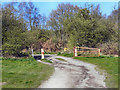 SD6106 : Gate, Hindley Hall Golf Course by David Dixon