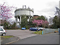 SJ8463 : Water towers, West Heath by Richard Dorrell