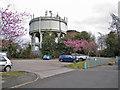 SJ8463 : Water towers, West Heath by Richard Dorrell