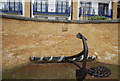 TQ3580 : Anchor by the Thames Path by Nigel Chadwick