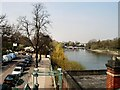 TQ1675 : West side of Richmond Lock by Paul Gillett