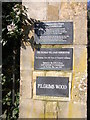 SP1729 : Plaque showing information about Pilgrim's Wood by Liz Stone