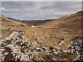 NR8938 : Walls of shielings in Glen Scaftigill by Trevor Littlewood