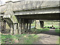 NY3857 : Going under the rail bridges by Ian S