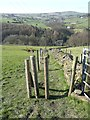 SE0320 : Not quite a stile on Ripponden Footpath 55 by Humphrey Bolton