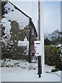 SE6691 : A  Snowed  up  Letterbox  at  Hope  Inn  Farm by Martin Dawes