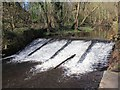 SK3189 : Weir on River Loxley by Wisewood Forge by David P Howard