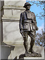 SK3387 : Soldier Sculpture, Weston Park War Memorial by David Dixon
