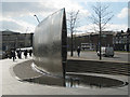 SK3586 : Blade end of 'Cutting Edge', Sheaf Square by Robin Stott