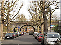 TQ2381 : Railway viaduct over Silchester Road by Stephen Craven