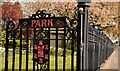 D1003 : Park gate and railings, Ballymena by Albert Bridge